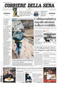 Guarda la versione ingrandita di Unioni Civili, Sigonella: prime pagine 23 febbraio