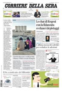 Guarda la versione ingrandita di Siria, Regeni, pensioni: le prime pagine dei giornali