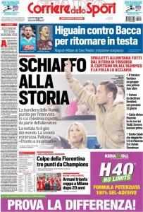 Guarda la versione ingrandita di Unioni Civili, Francesco Totti: prime pagine 22 febbraio