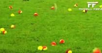 YOUTUBE Lancio palline tennis in campo contro caro biglietti