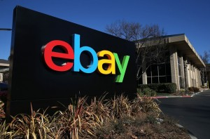 Guarda la versione ingrandita di SAN JOSE, CA - JANUARY 22:  A sign is posted in front of the eBay headquarters on January 22, 2014 in San Jose, California. eBay Inc. will report fourth quarter earnings today after the closing bell. (Photo by Justin Sullivan/Getty Images)