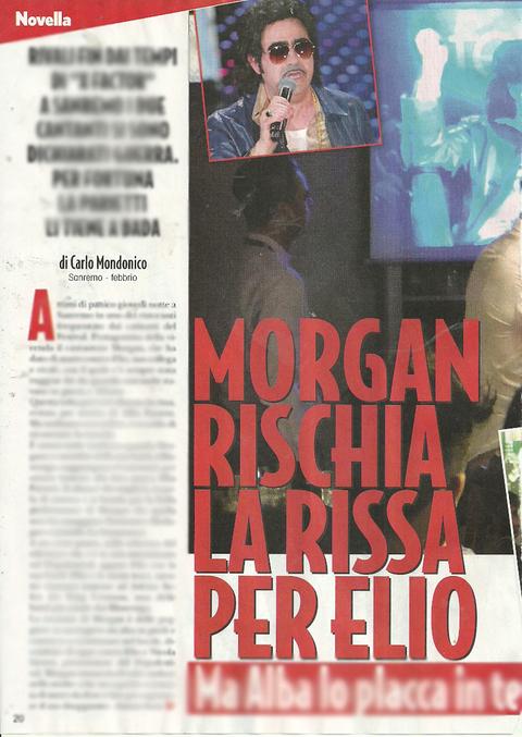 Morgan si infuria con Elio, arriva Alba Parietti2