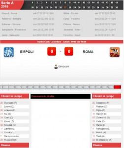 Empoli-Roma: diretta live su Blitz con Sportal