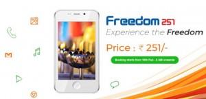 YOUTUBE Freedom 251, smartphone low cost a meno di 4 dollari