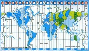 Guarda la versione ingrandita di La mappa dei fusi orari nel mondo