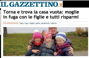 Torna a casa e scopre: moglie in fuga con figlie e risparmi