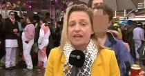 Carnevale: una reporter <br /> molestata in diretta tv
