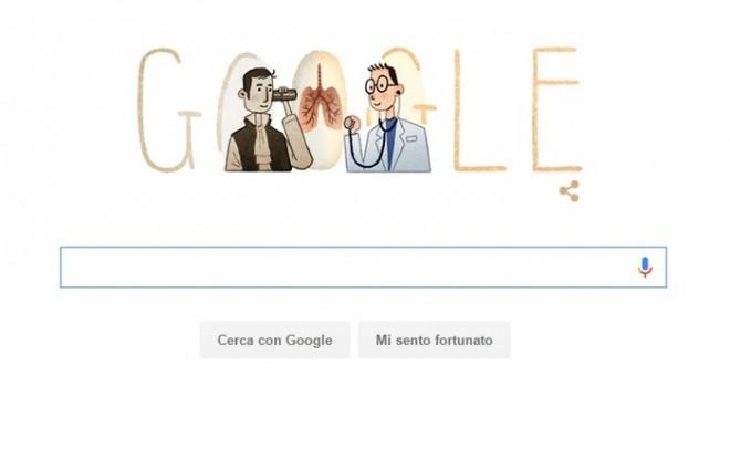 Google, doodle dedicato a inventore stetoscopio