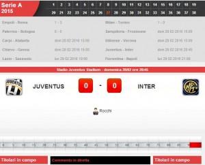 Juventus-Inter: diretta live su Blitz con Sportal