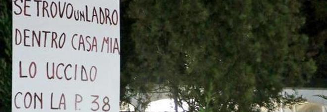 """""""Ladri se entrate in casa vi sparo"""": cartello a Villanova"""