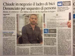 Rimini: commesso chiude ladro in negozio. Sequestro persona!