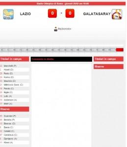 Lazio-Galatasaray: diretta live su Blitz con Sportal