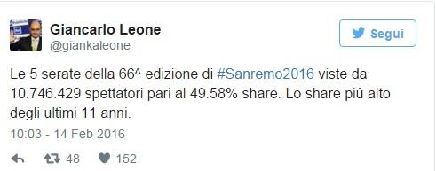 Sanremo: 6,5 mln attivo. Conti37