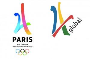 Guarda la versione ingrandita di Olimpiadi. Logo Parigi 2024 a confronto con quello 4Global