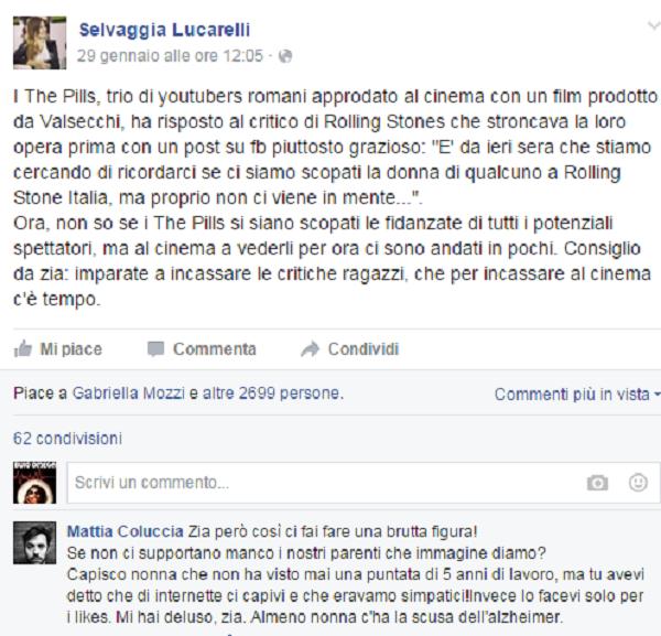 """Selvaggia Lucarelli contro """"The Pills"""" e loro: Alzheimer?"""