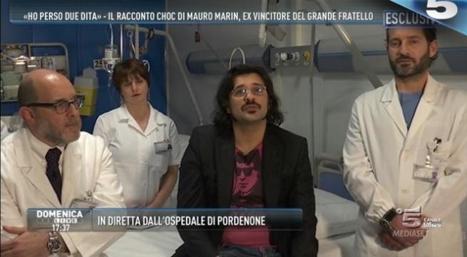 Mauro Marin e lo sfogo a Domenica Live