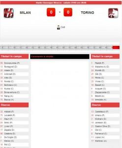 Milan-Torino: diretta live su Blitz con Sportal