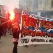 """Milano, studenti Statale in corteo: """"Aggrediti dai fascisti""""01"""
