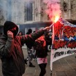 """Milano, studenti Statale in corteo: """"Aggrediti dai fascisti""""02"""