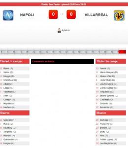 Napoli-Villareal: diretta live su Blitz