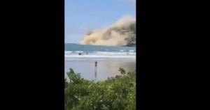 Terremoto Nuova Zelanda, crolla parte scogliera