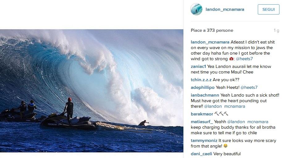 VIDEO surfista Landon Mcnamara cade da onda gigantesca