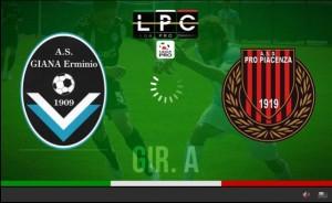 Pro Piacenza-Giana Erminio Sportube: streaming diretta live