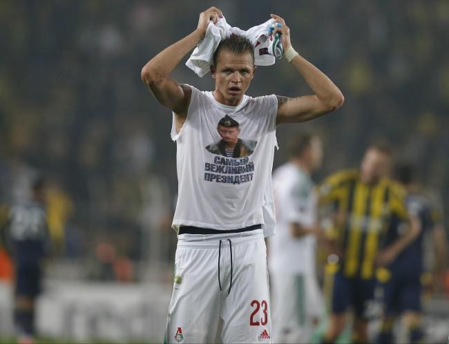Lokomotiv, calciatore con maglietta pro Putin: ora rischia