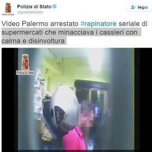 Palermo, rapinava discount con disinvoltura e calma