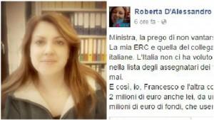 Guarda la versione ingrandita di Ministra Stefania Giannini zittita da ricercatrice