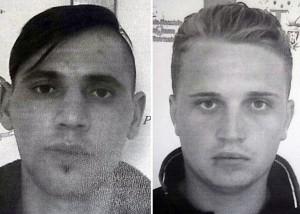 Guarda la versione ingrandita di Da sinistra nella foto Ciobanu Catalin e  Diaconescu Mihal Florin (Foto Ansa)