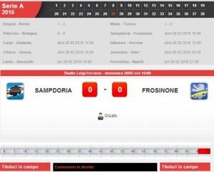 Sampdoria-Frosinone: diretta live su Blitz con Sportal