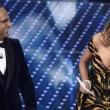 Sanremo: Carlo Conti e Madalina Ghenea (foto Ansa)