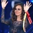 """Sanremo, Madalina Ghenea e il """"pigiama"""" nude look8"""
