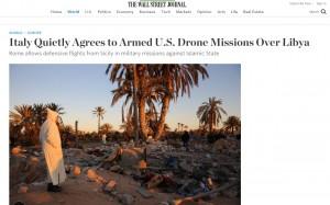 Sigonella base per droni Usa contro Isis in Libia: ok di Renzi a Obama