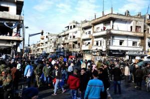 Siria: doppio esplosione a Homs, oltre 40 morti (foto Ansa)