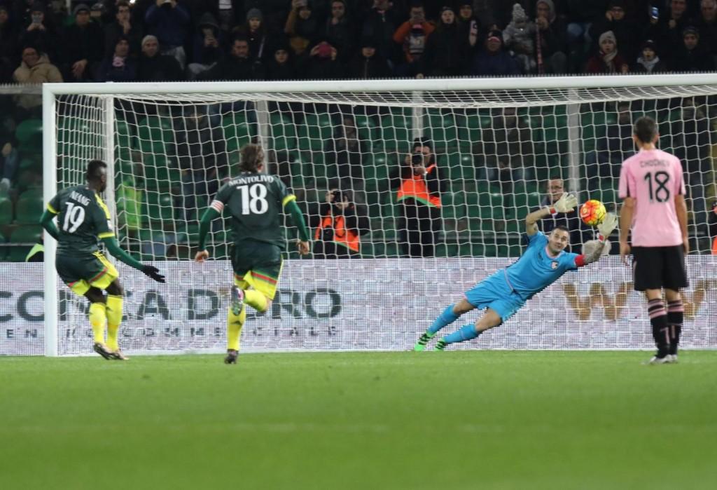 Palermo - Milan, il gol di Niang nella foto LaPresse