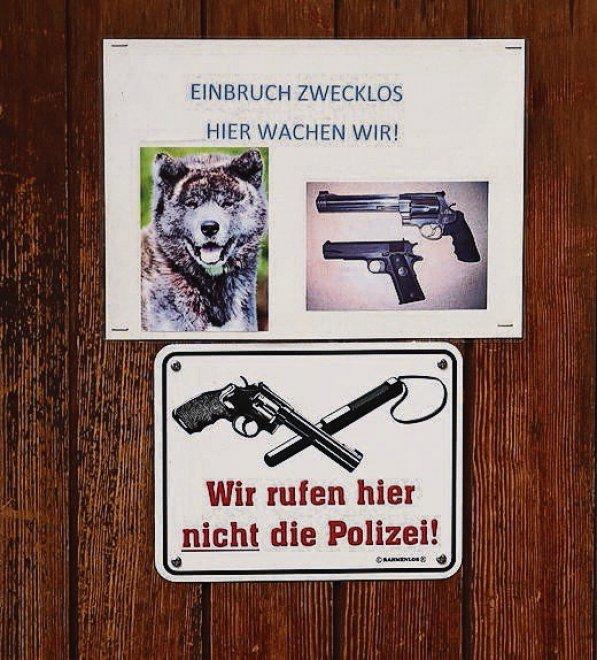 """""""Ladri qui vi spariamo"""": il cartello in Svizzera FOTO"""