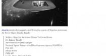 Truffa Nigeria: astronauta perso in spazio, serve c/c per…