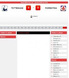 Tottenham-Fiorentina: diretta live su Blitz con Sportal