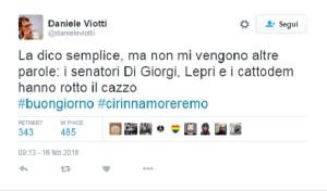 Il tweet di Viotti contro i cattodem del Pd