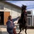 YouTube: Vasco Pirri Ardizzone cade da cavallo imbizzarrito2