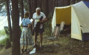 Wojtyla e  Anna-Teresa Tymieniecka al campeggio
