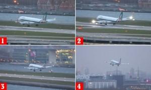 YOUTUBE Aereo Alitalia non riesce ad atterrare per il vento