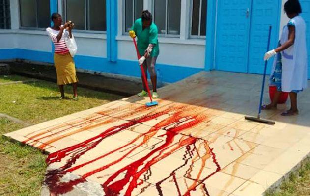 Incinta operata a terra fuori da ospedale: muore con figli 03