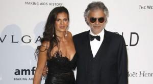 Andrea Bocelli e la moglie Veronica Berti (foto Ansa)