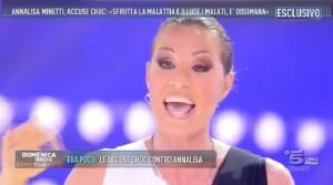 Annalisa Minetti ospite di Domenica Live