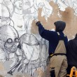 Blu cancella suoi murales Troppi magnati qui magnano8