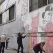 Blu cancella suoi murales Troppi magnati qui magnano14