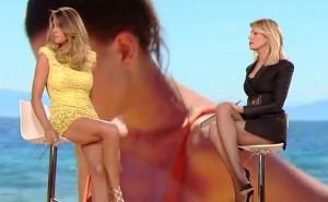 Guarda la versione ingrandita di Isola dei famosi, Claudia Galanti e l'abito esagerato FOTO